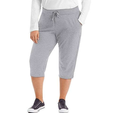 Just My Size French Terry Women's Capris - Light Steel - Size - 1X