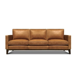 Link to Metropole Top Grain Pull Up Leather Mid-century Sofa - Removable Cushions Similar Items in Sofas & Couches