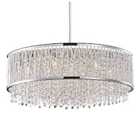 Modern 10-light Chrome 22-inch Crystal Chandelier
