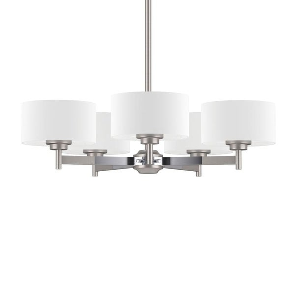 """Park Harbor PHHL6295 Highfield 25"""" Wide 5 Light Single Tier Empire Style Chandelier with Drum Shade"""