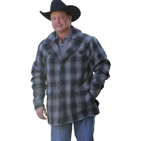 Shop Miller Ranch Western Coat Mens Wool Plaid Button