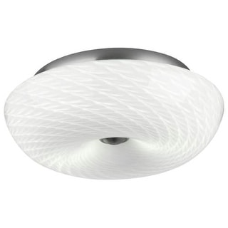 "Forecast Lighting F606336 2 Light 13"" Wide Flush Mount Ceiling Fixture from the Inhale Collection"