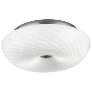 "Forecast Lighting F606336 2 Light 13"" Wide Flush Mount Ceiling Fixture from the Inhale Collection - Satin Nickel"