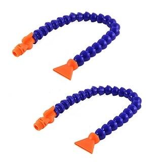 Unique Bargains Flat Nozzle 1/2BSP Thread Flexible Switch Oil Coolant Pipe Hose Tube 50cm 2pcs
