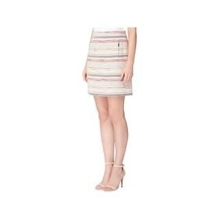 Tahari ASL Womens Petites Knit Skirt Tweed Colorblock