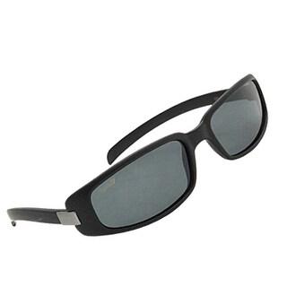 Frame Rectangle Lenses Polarized Women's Sunglasses Black