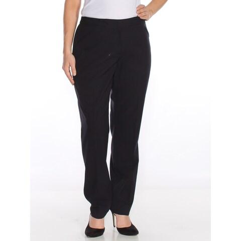 TAHARI Womens Black Slim Wear To Work Pants Size: 14