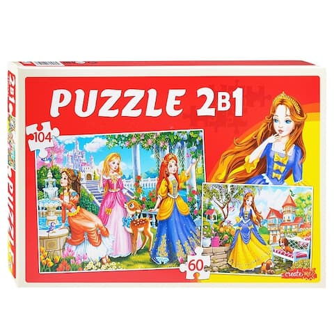 Lovely Princesses 60 and 104 pc. Jigsaw Puzzle for Kids