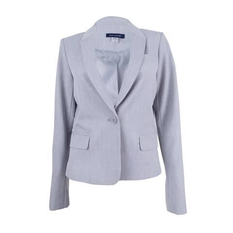 Tommy Hilfiger Women's One-Button Blazer (4, Light Grey)