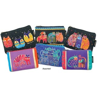 "Cosmetic Bag Zipper Top Assortment 9""X1""X6""-Feline Prints"