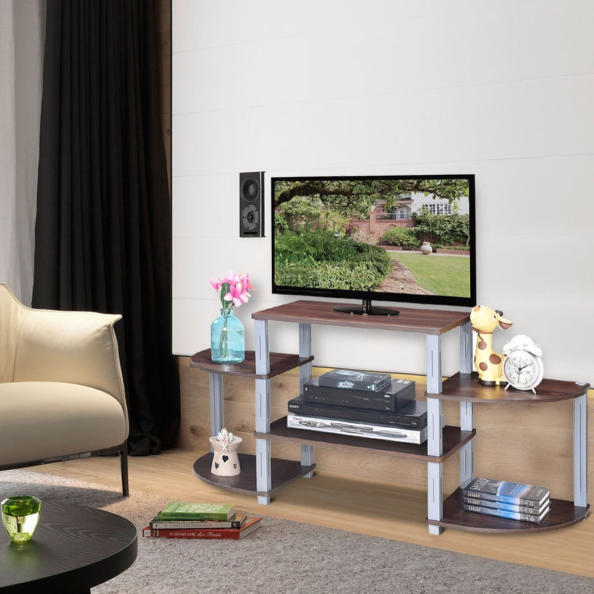 Costway 3 Cube Flat Screen Tv Stand
