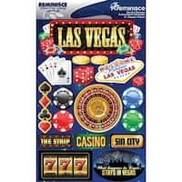 "Signature Dimensional Stickers 4.5""X6"" Sheet-Las Vegas"