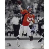 Peyton Manning Autographed Denver Broncos 16x20 Sephia Orange JSA