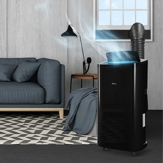 DELLA 14000 BTU Portable Air Conditioner Unit + 11000 BTU Heater, Cool Fan Quiet Dehumidifier Rooms Up to 700 Sq.Ft. LED