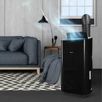 DELLA 14000 BTU Portable Air Conditioner Unit + 11000 BTU Heater, Cool Fan Quiet Dehumidifier Rooms Up to 700 Sq.Ft. LED