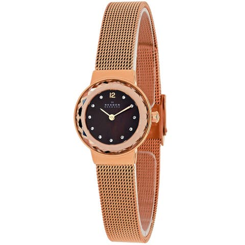 Skagen Women's Brown mother of pearl Dial Watch - 456SRR1 - One Size