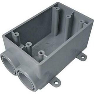 "Cantex 5133542U PVC 1 Gang FSS Outdoor Switch/Outlet Box, 3/4"""