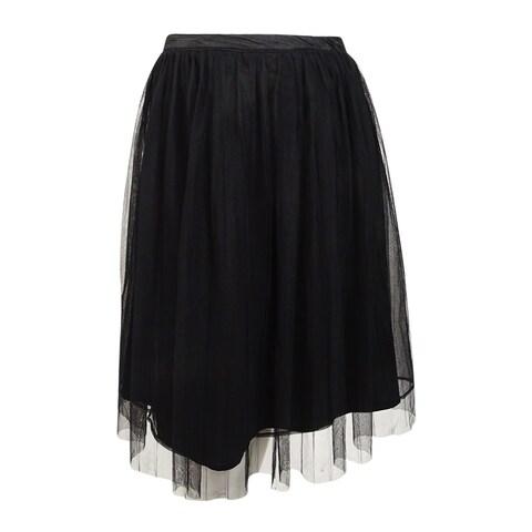 City Chic Women's Trendy Plus Size Pleated A-Line Skirt - Black