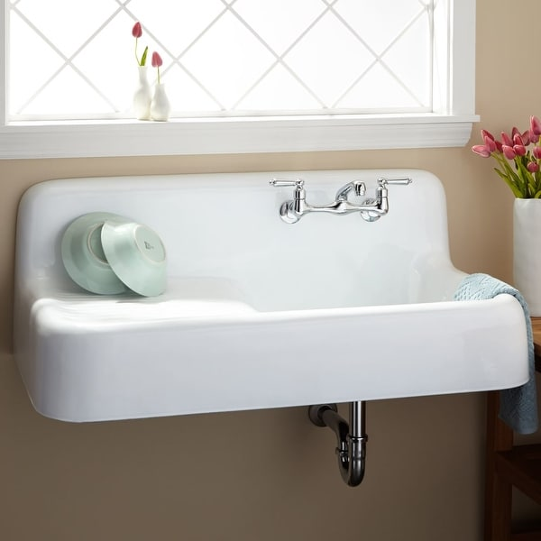 Shop Signature Hardware 349614 42 1 8 Wall Mounted Single Basin