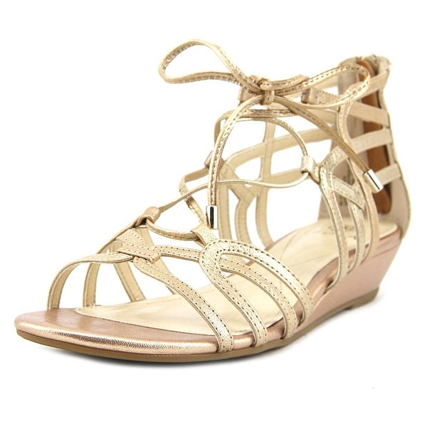 Isola Elisia Women Open Toe Leather Gold Gladiator Sandal