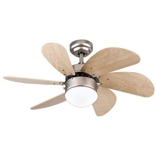 """Westinghouse 7814465 Turbo Swirl 30"""" 6 Blade Hanging Indoor Ceiling Fan with Rev"""
