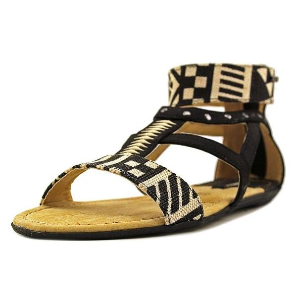 MTNG 53535 Women Tribal Black Sandals
