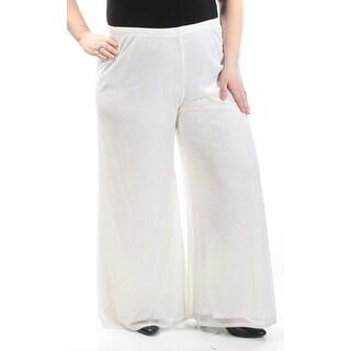 Womens Ivory Cocktail Wide Leg Pants Size XXL