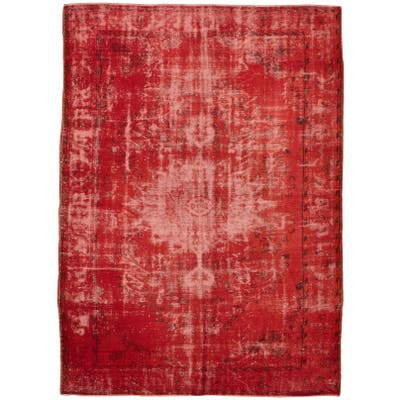 ECARPETGALLERY Hand-knotted Color Transition Red Wool Rug - 7'0 x 9'10