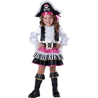InCharacter Pirate Girl Toddler Costume - Pink/Black