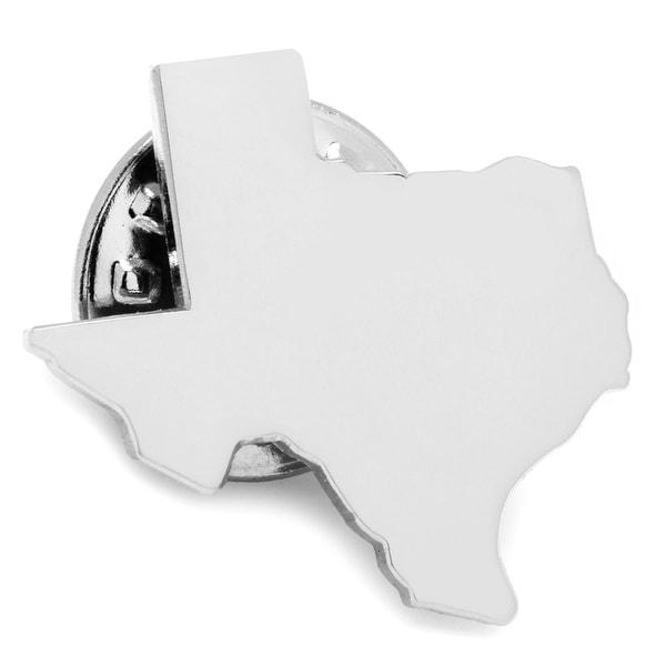 Silver Texas Lapel Pin