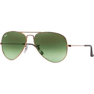Ray-Ban RB3025 Aviator Gradient 58mm Sunglasses (Green Lens/Bronze-Copper Frame)