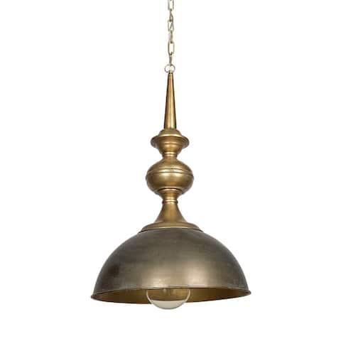 Mercana Capsa 17x29 Gold Toned Metal Dome Pendant Light - 17.0L x 17.0W x 29.0H