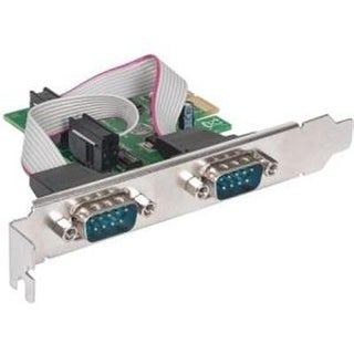 Manhattan Products 152082 Manhattan Serial Pci Express Card Quickly And Easily Adds Two Db9 Ports To Pci E