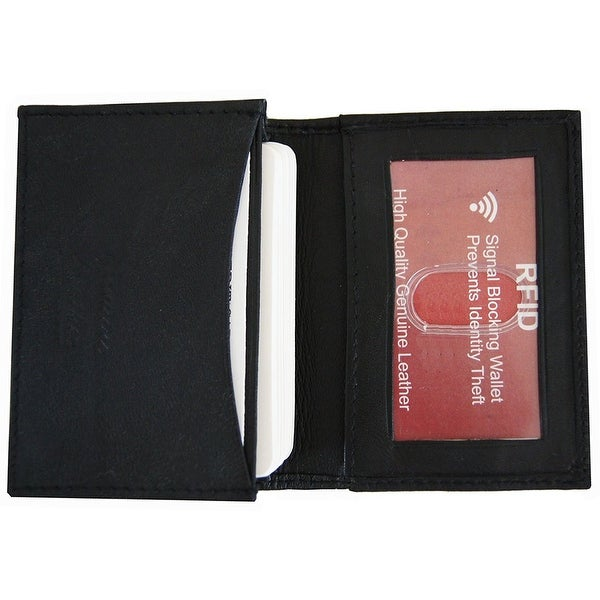 RFID Blocking Improving Lifestyles Mens LeatherExpandable Business Card Case Wallet Bifold Credit Card Black FreeOrganza