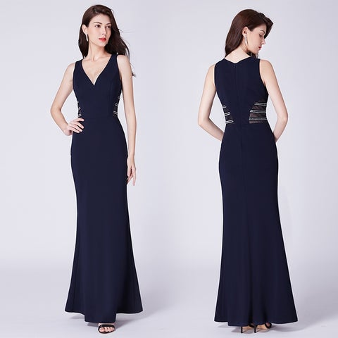 Ever-Pretty Womens Fitted Sheer Formal Evening Cocktail Party Dress 07480