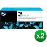 HP 761 775-ml Matte Black DesignJet Ink Cartridge (CM997A)(2-Pack)