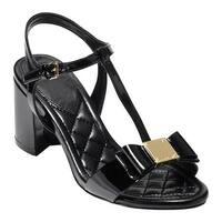 Cole Haan Women's Genessa II T-Strap Sandal Black Patent
