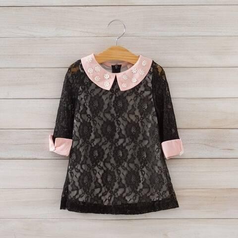 Baby Kids Children's Girls Lovely Short Sleeve Lace Vest Skirt Princess Dress
