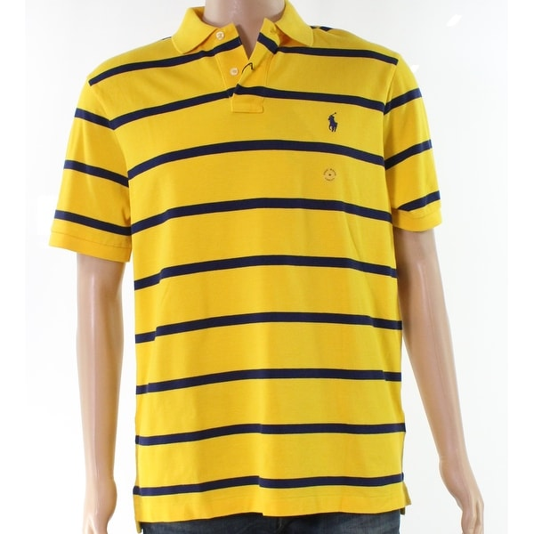b87cdbe8 Shop Polo Ralph Lauren Yellow Blue Mens Size Medium M Striped Polo Shirt - Free  Shipping Today - Overstock - 27970495