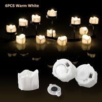 Image 6PCS Flameless Smokeless LED Tealight Light Candles Flickering Flashing Warm White