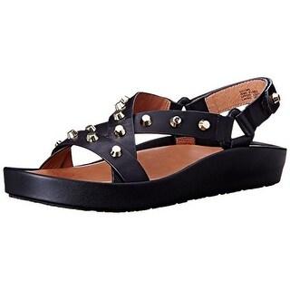 Gentle Souls Womens Uconn Flatform Sandals Leather Studded