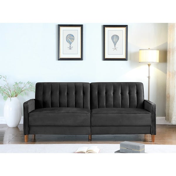 US Pride Strip Convertible Velvet Sofa Bed. Opens flyout.