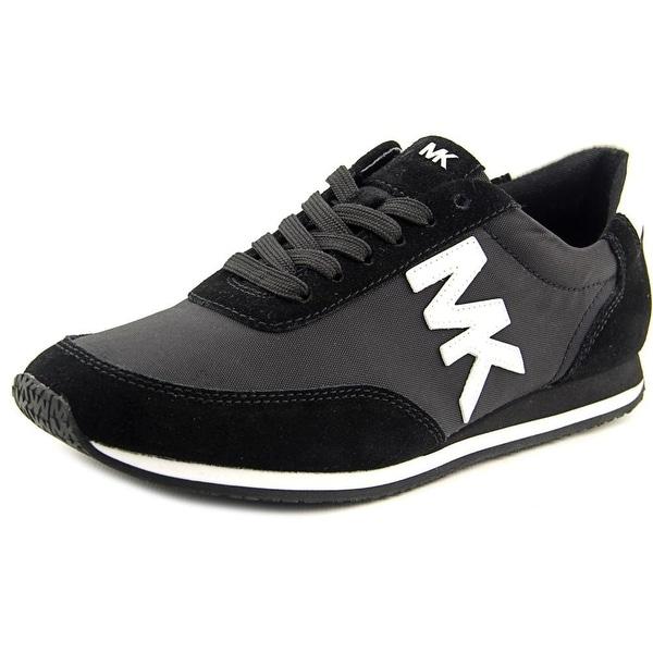 Michael Michael Kors Stanton Trainer Women Suede Black Fashion Sneakers