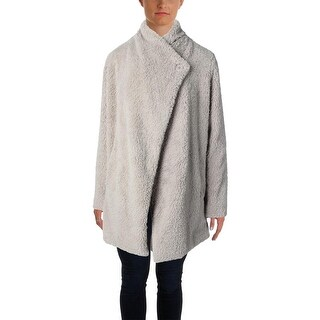 BB Dakota Womens Shawl Collar Faux Shearling Basic Coat