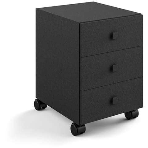 WS Bath Collections Runner 5436 Runner Steel Rolling Cabinet with 3 Drawers