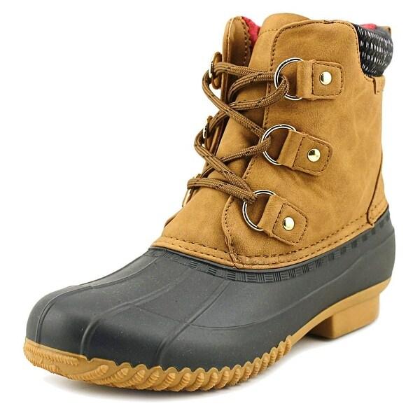 Tommy Hilfiger Roza Women Round Toe Suede Blue Rain Boot
