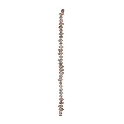 6' Decorative Artificial Brown Frosted Pine Cone Christmas Garland- Unlit