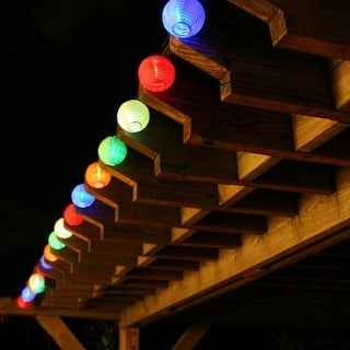 Smart Solar 3711MR20 20 LED Solar Chinese Lantern String Lights
