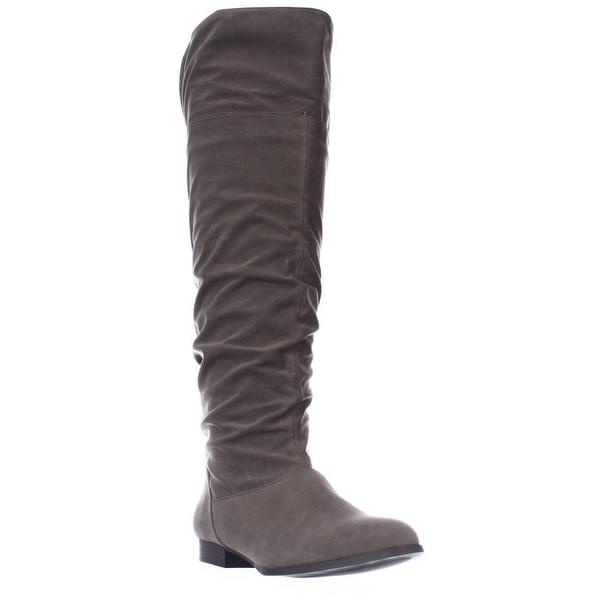 SC35 Tiriza Slouch Knee High Boots, Mushroom