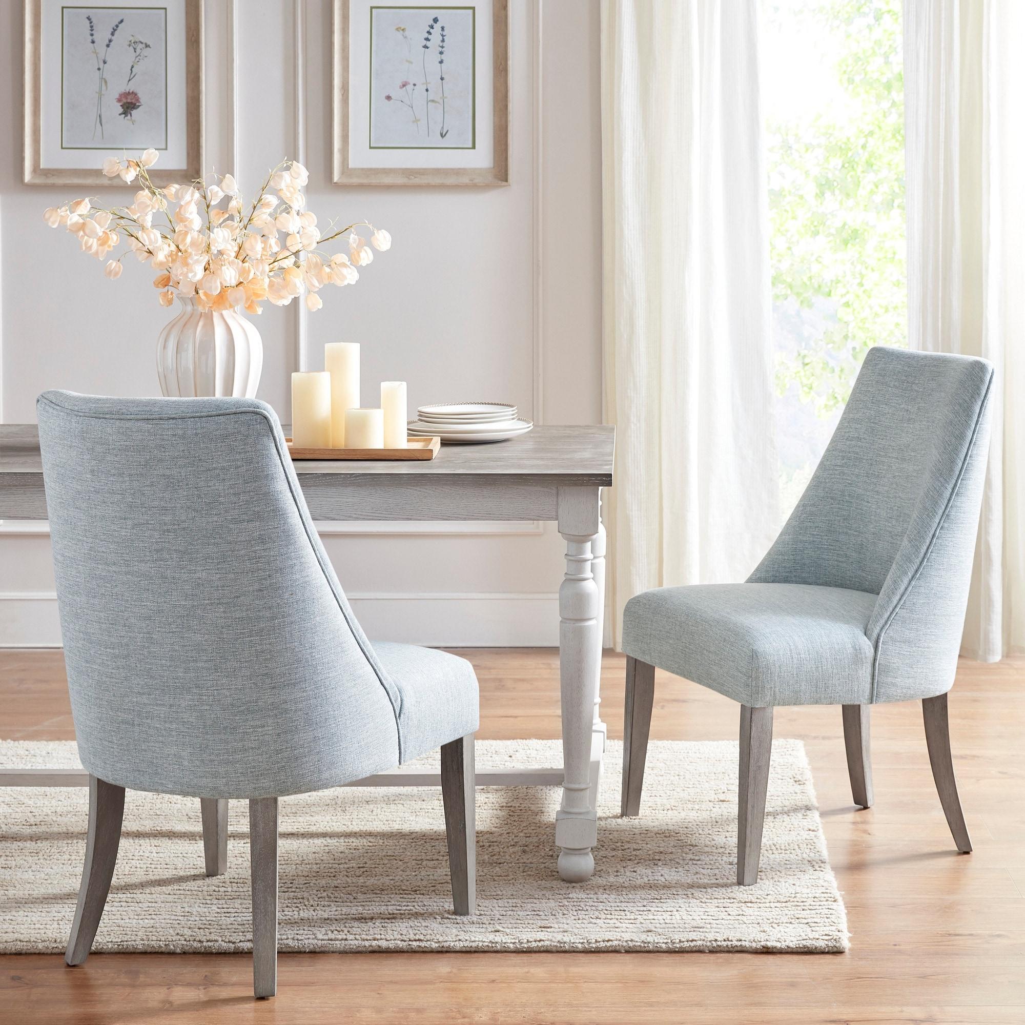 Martha Stewart Winfield Light Blue Dining Chair Set Of 2 Overstock 31224065